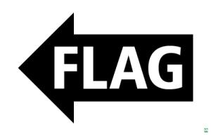 Flag-arrow sign