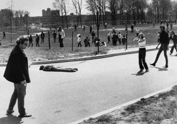 Kent State Student Reacting to Death of Slain Protester